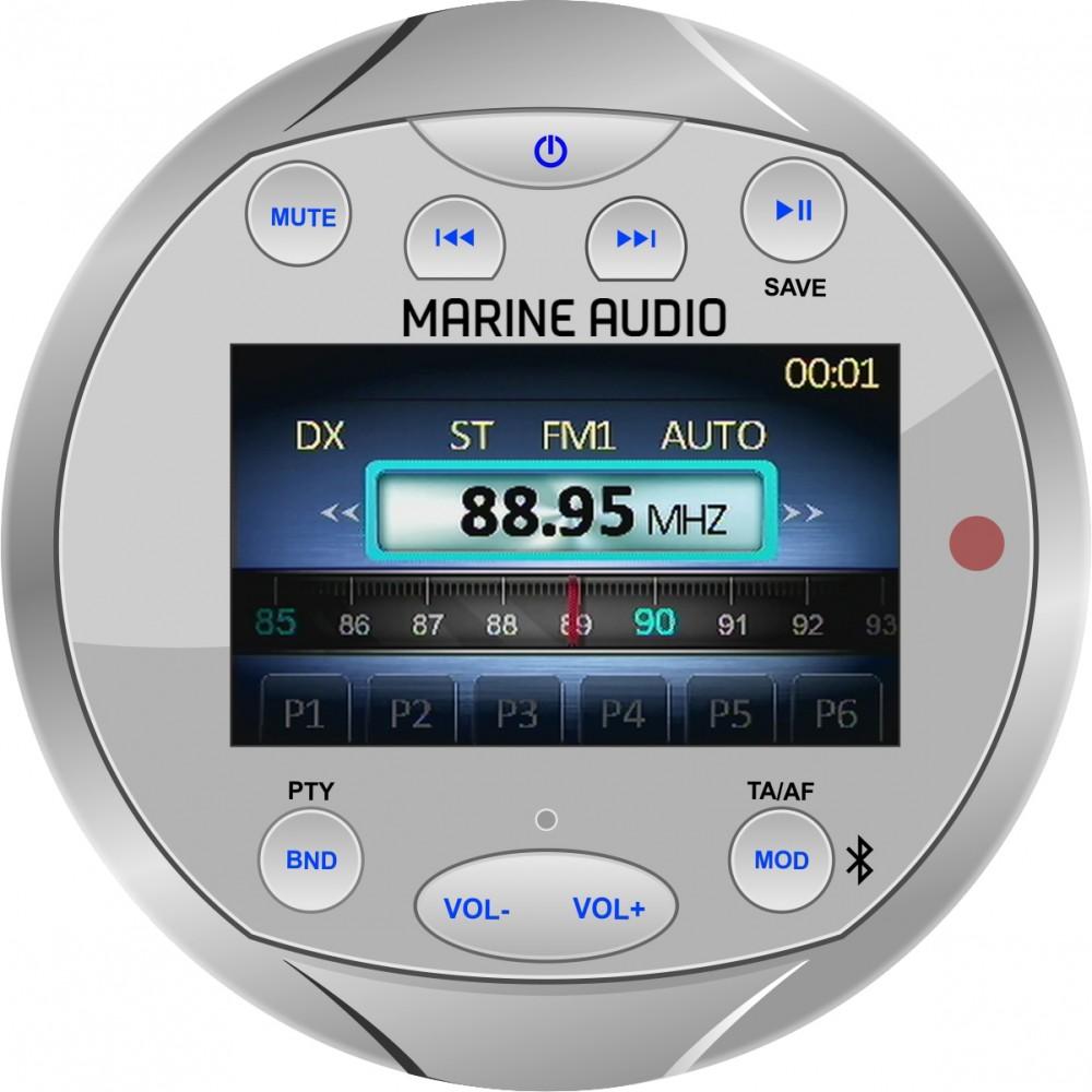 Marine stereo med DAB+ (IPX5) Sølv | DabRadioButikken